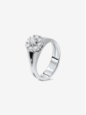 Inel Diamant 18K Aur alb