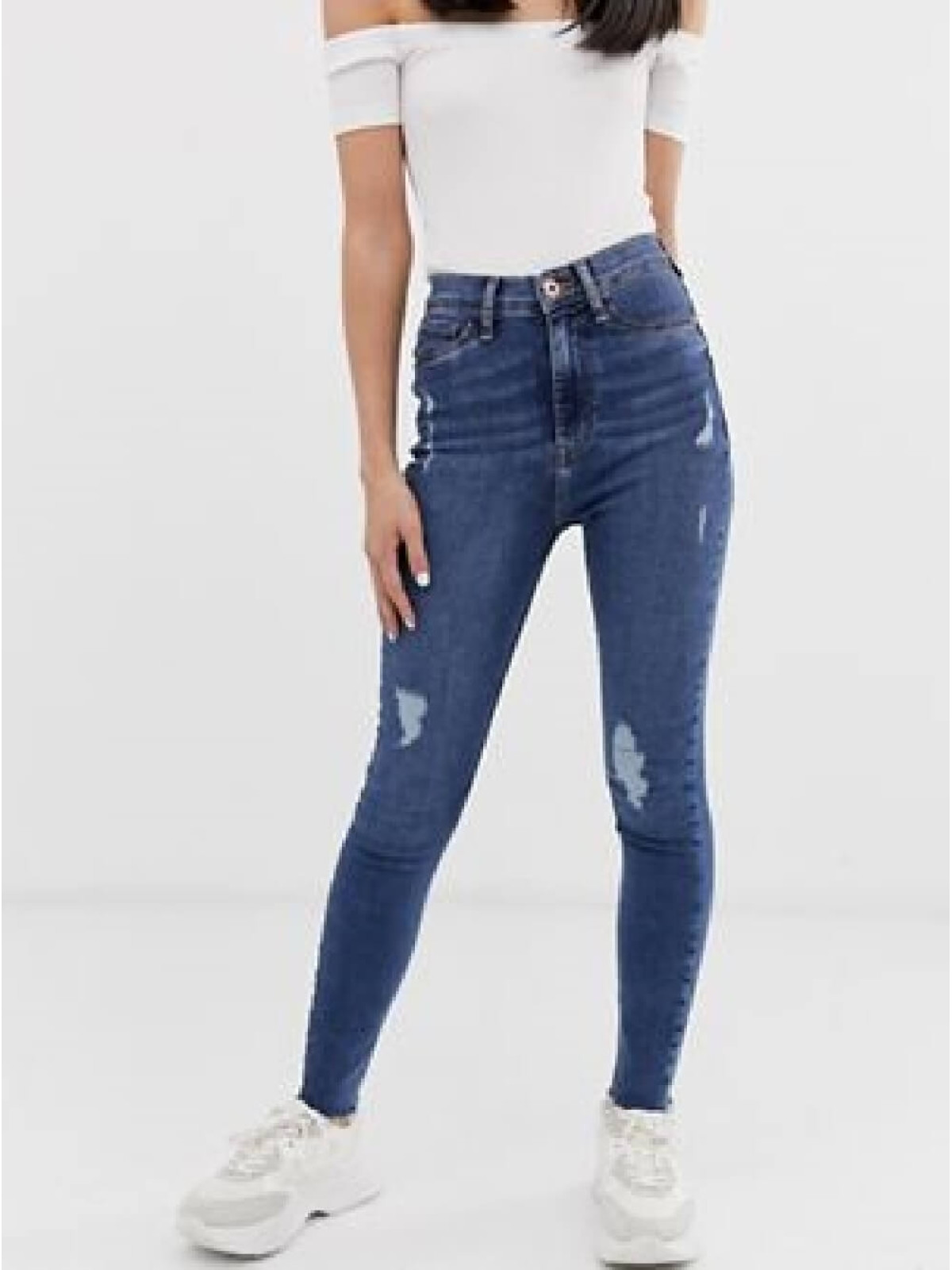 Mom Jean With Stretch in Blue
